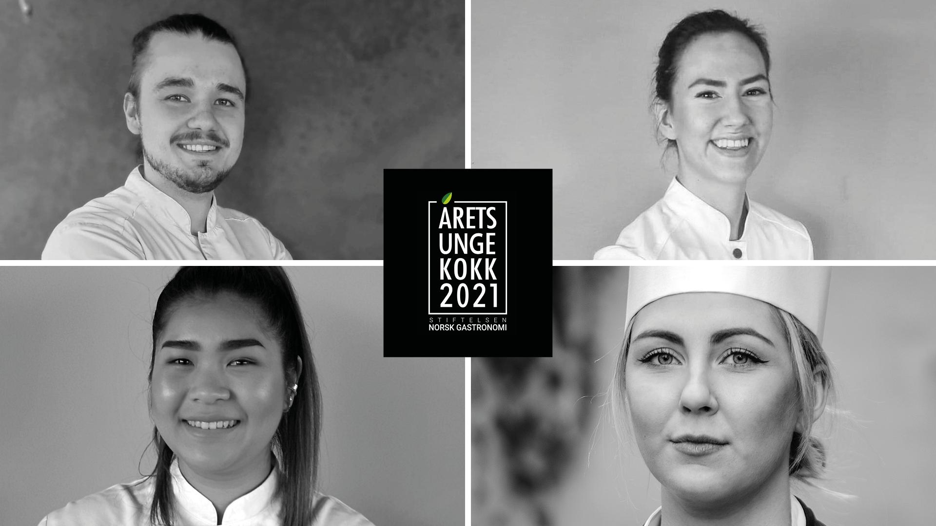Årets unge kokk 2021-kandidatene